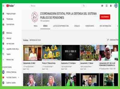 canal-de-youtube-de-la-Coordinadora-Estatal-por-la-Defensa-del-Sistema-Publico-de-Pensiones